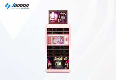 Lipstick Makeup Vending Machine With Three Levels RGB LED 220V Black Pink