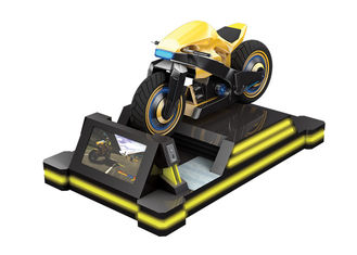 Adults VR Motorcycle Simulator Amusement Park Pcs Racing Games Black Yellow